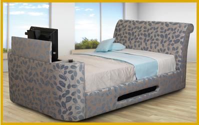 Tv In Bed : Crushed velvet barnard tv bed