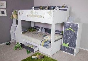 Flair Furnishings Flick Bunk Bed Grey Stars