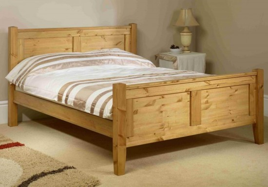 Friendship Mill Coniston High Footend Wooden Bed Frame-color Pine