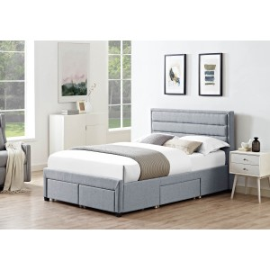 LPD Greenwich Fabric Drawer Bed Frame-