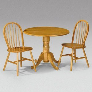 Julian Bowen Dundee Drop Leaf Dining Set with 2 windsor chairs-