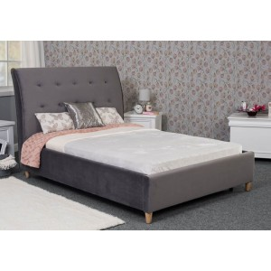 Harper Bed Frame - Shown in Plush Velvet Steel