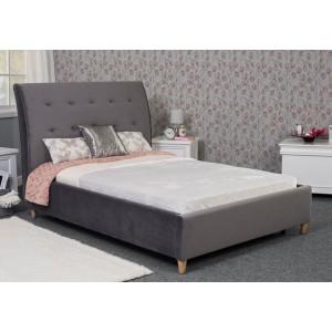 Harper Bed Frame - Shown in Plush Velvet Steel