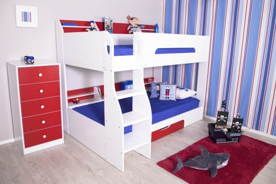 Flair Furnishings Flick Bunk bed White And Red