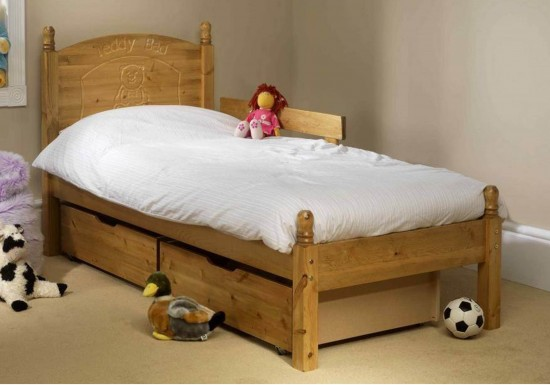 Friendship Mill Teddy Wooden Bed Frame-color Pine