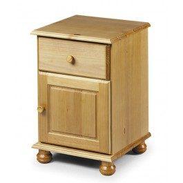 Julian Bowen Pickwick 1 Drawer Pine Bedside Chest