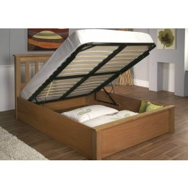 Limelight Terran Oak Ottoman Bed