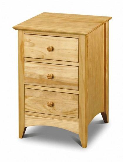 Julian Bowen Kendal 3 Drawer Bedside Chest-color Pine