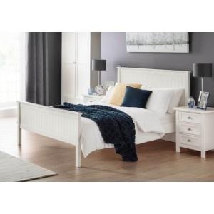 Julian Bowen Maine Surf White Bed Frame-