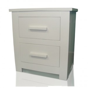 Flintshire Buckley White Finish Bedside Cabinet-