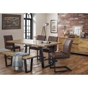 Brooklyn Dining Set, 4 Chairs and Bench