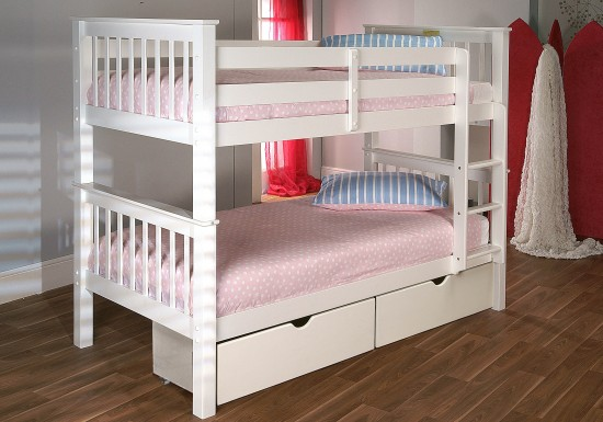 Limelight Pavo White Bunk Bed-color White