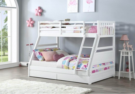 Ollie White Triple Bunk Bed