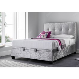 Kaydian Walkworth Fabric Ottoman Bed Frame in Silver