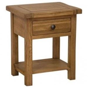 Homestyle Rustic Oak Lamp Table