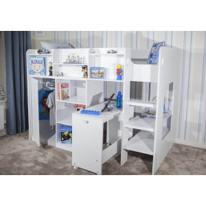 Flair Furnishings Wizard Junior High Sleeper Workstation -