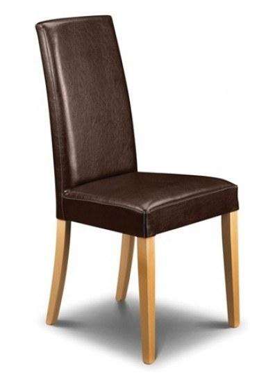 Julian Bowen Set of 4 Athena faux leather chair-