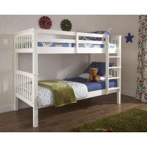 GFW Novaro White Wooden Bunk Bed-