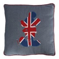 Disney Mickey Mouse Blue Union Jack Silhouette Cushion