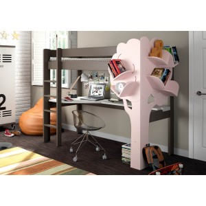 Mathy By Bols Dominique Highsleeper Bed With Desk & Bookcase-
