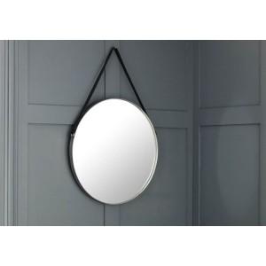 Julian Bowen Opera Round Pewter Mirror-