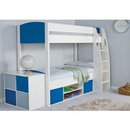 Stompa Classic Kids White Bunk Bed