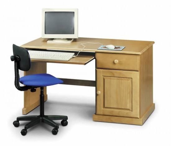 Julian Bowen Surfer Solid Pine Study Desk-