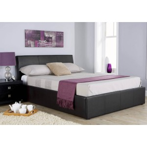 GFW Ascot Faux Leather Ottoman Bed Frame-