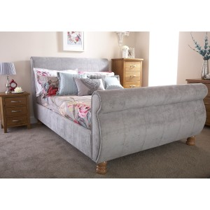 GFW Chicago Fabric Sleigh Bed-