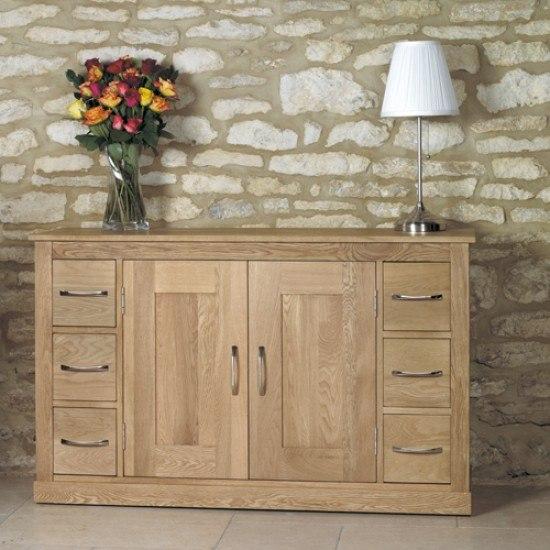 Baumhaus Mobel Oak Six Drawer Sideboard-
