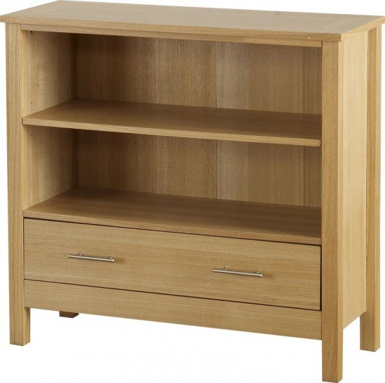 Seconique Oakleigh 1 Drawer Low Bookcase-color Oak