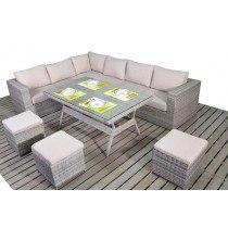 WGF Rustic Corner Sofa and Table Set-