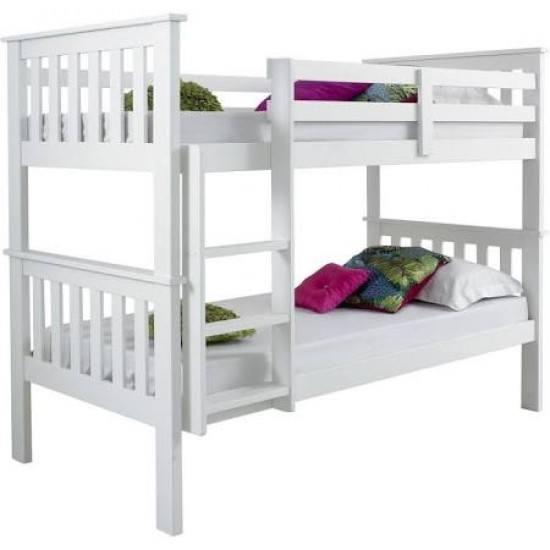 Bed Master Atlantis Bunk Bed White