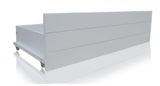 Flintshire Hardwood / White Finish Drawers