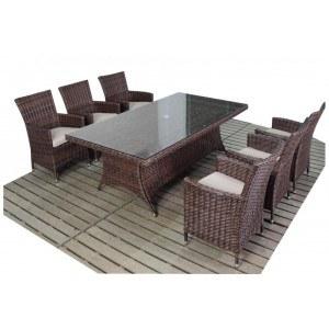 WGF Windsor Six Seater Rectangular Dining Set
