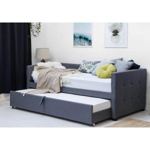 Sleep Design Holyrood Fabric Daybed with Trundle -