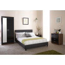 GFW Faux Leather Bed In A Box