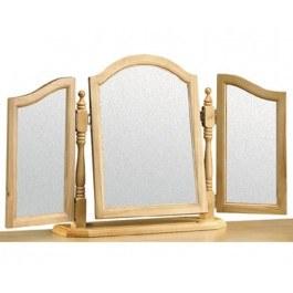 Julian Bowen Pickwick Solid Pine Triple Dressing Table Mirror