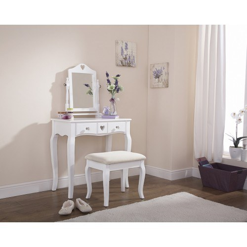 Gfw Heart Design Dressing Table And Stool Set Dressing