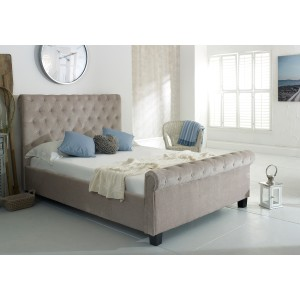 Flair Furnishings Lola Fabric Bed Mink