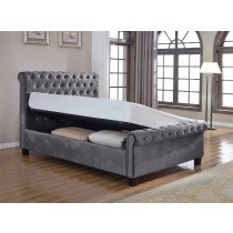 Flair Furnishings Lola Fabric Ottoman Bed Silver