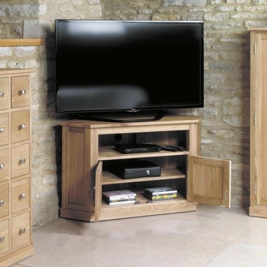 Baumhaus Mobel Oak Corner Television Cabinet-color Oak