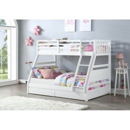 Flair Furnishings Ollie Triple Bunk Bed White