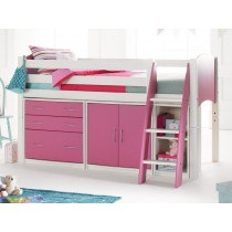 Scallywag Cabin Bed with Chest of Drawers, Cupboards and Shelving Unit