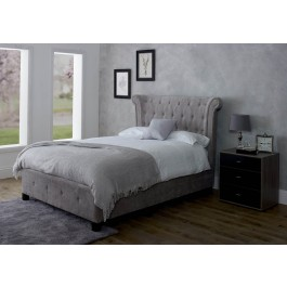Limelight Epsilon Fabric Bed Frame in Mink