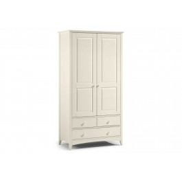 Julian Bowen Cameo Stone White Combination Wardrobe