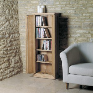 Baumhaus Mobel Oak DVD Storage Cupboard-