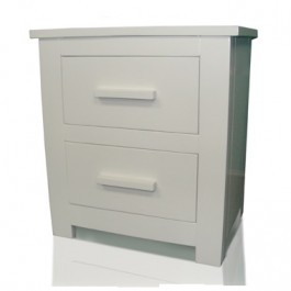 Flintshire Buckley White Finish Bedside Cabinet