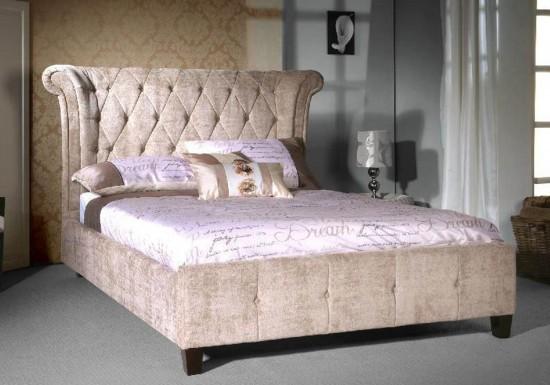 Limelight Epsilon Fabric Bed Frame in Mink
