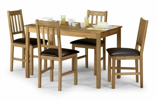 Julian Bowen rectangular Coxmoor Oak Dining Table-